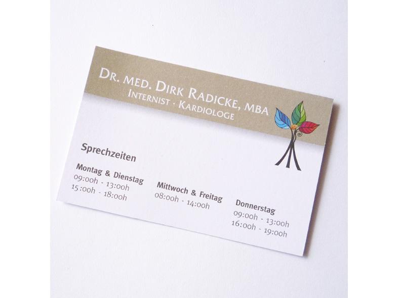 Corporate Design Logo Flyer Visitenkarte Für Arzt Praxis Dr